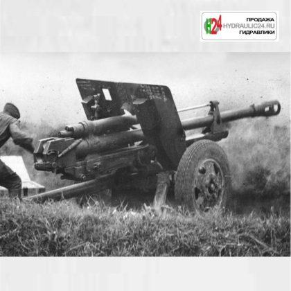 Пушка ЗИС-5 (откат ствола)