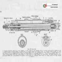 Пушка ЗИС-5 (схема накатника)